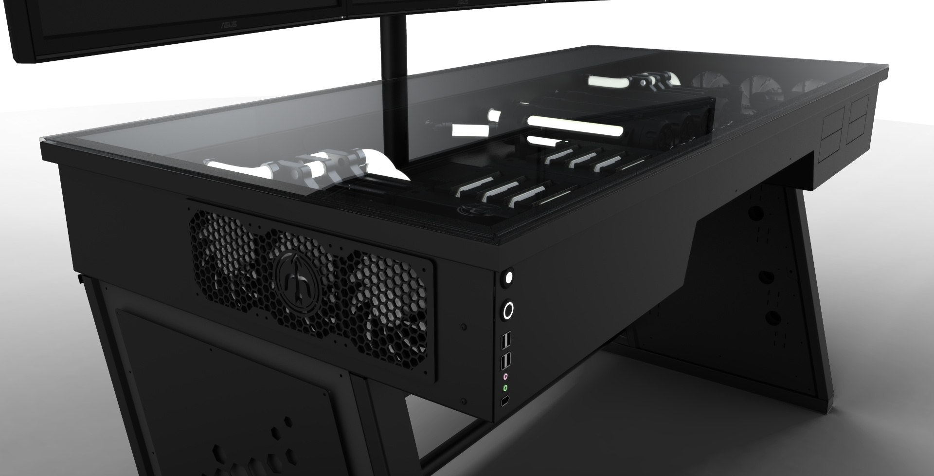 Red Harbinger Cross Desk - Need 3D Model/Sketchup - Case Modding and